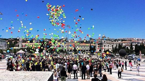 Comemoração dos 8 séculos da Língua Portuguesa no Padrão dos Descobrimentos, em Portugal