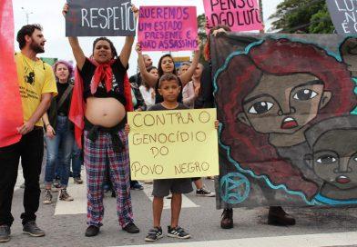 Moradores do Mocotó durante protesto contra a violência policial em 24 de setembro de 2019