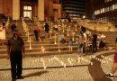 Grupo realiza ato em memória das vítimas da covid-19 em Florianópolis